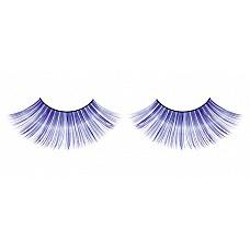 Ресницы синие длинные  Очаровательные веерообразные ресницы ручной работы интенсивного синего цвета с необычным блеском.