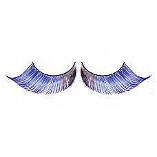 Ресницы светло-синие  перья  Элегантные длинные и густые ресницы из мягких высококачественных перьев ручной обработки, выполненные в лиловом и синем цветах, подкрученные по краям.