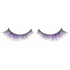 Ресницы чёрно-фиолетовые  Густые ресницы ручной работы черного и лилового цветов, длина которых увеличивается к внешним краям.