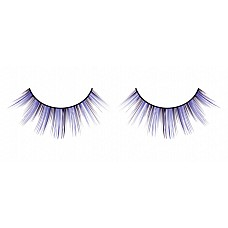 Ресницы чёрно-фиолетовые  Достойные симметричные ресницы ручной работы черного и лилового цветов с тонкими отдельными ресничками различной длины.
