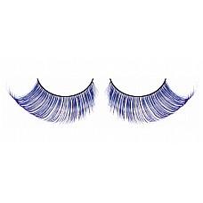 Ресницы светло-синие  перья  Очень элегантные длинные и густые ресницы из мягких высококачественных перьев ручной обработки, выполненные в лиловом и синем цветах, подкрученные по краям.