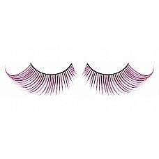 Ресницы светло-розовые  перья  Дерзкие, но нарядные ресницы из мягких высококачественных перьев ручной обработки, выполненные в лиловом и розовом цветах, подкрученные по краям.