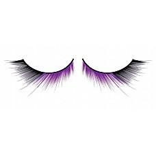 Ресницы чёрно-фиолетовые  Очень привлекательные ресницы ручной работы черного и лилового цветов с разными по длине ресничками, подкрученными по краям.