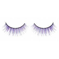 Ресницы сине-фиолетовые длинные  Ресницы ручной работы, выполненные в синем и лиловом цветах, с длинными и слегка укороченными веерообразными отдельными ресничками.