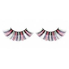 Ресницы цветные длинные  Очаровательные веерообразные длинные и пестрые ресницы ручной работы с необычным блеском.