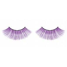 Ресницы фиолетовые длинные Deluxe  Элегантные веерообразные лиловые ресницы ручной работы с разделенными перышками и необычным блеском.