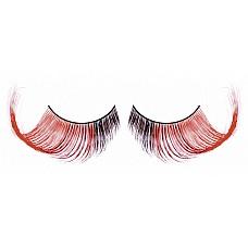 Ресницы коричнево-красные  Элегантные длинные и густые ресницы из мягких высококачественных перьев ручной обработки, выполненные в коричневом и красном цветах, подкрученные.