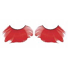 Ресницы красные  перья  Потрясающие, захватывающие ресницы из мягких высококачественных перьев ручной обработки интенсивного красного цвета, очень густые.