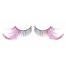 Ресницы чёрные-фиолетовые  перья  Экзотически прекрасные черные ресницы из мягких высококачественных перьев ручной обработки с нежными контрастными лиловыми перышками.