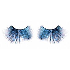 Ресницы голубые  перья  Прекрасные и длинные ресницы из мягких высококачественных перьев ручной обработки синего изысканного цвета с рисунком в крапинку.