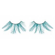 Ресницы голубые  перья  Асимметрично расположенные, прекрасные ресницы из мягких высококачественных перьев ручной обработки, ярко-синие и очень пушистые.