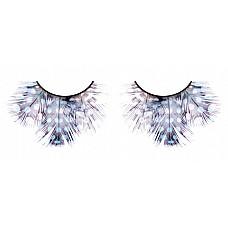 Ресницы светлые сине-фиолетовые  перья  Очень нарядные ресницы из мягких высококачественных перьев ручной обработки голубого и лилового цветов, пушистые, с рисунком в крапинку.
