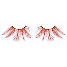 Ресницы красные  перья  Нарядные и притягивающие взгляды ресницы из мягких высококачественных перьев ручной обработки красного цвета, очень распушенные.