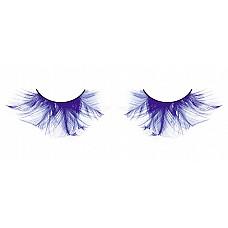 Ресницы голубые  перья  Яркие и впечатляющие ресницы из мягких высококачественных разнонаправленных перьев ручной обработки ярко-синего цвета.