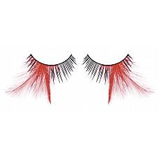 Ресницы чёрные-красные  перья  Экстравагантные, прекрасные черные ресницы из мягких высококачественных перьев ручной обработки с контрастными красными перышками.