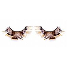 Ресницы коричневые  перья  Выдержанные в осенних тонах ресницы из мягких высококачественных перьев ручной обработки, светло-коричневые, пушистые, с прямыми перьями посередине.