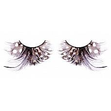 Ресницы коричневые-чёрные  перья  Пушистые ресницы из мягких высококачественных перьев ручной обработки с рисунком в крапинку, сдержанные и позволяющие менять образы.