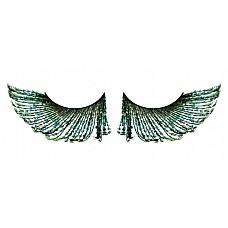 Ресницы зелёные  перья  Просто фантастические, впечатляющие ресницы из мягких высококачественных перьев ручной обработки интенсивного зеленого цвета, слегка распушенные.