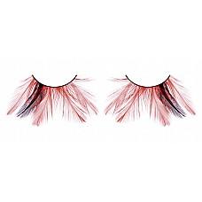 Ресницы чёрные-красные  перья  Смелые, необычные ресницы из мягких высококачественных перьев ручной обработки, выполненные в черном и красном цветах, распушенные.