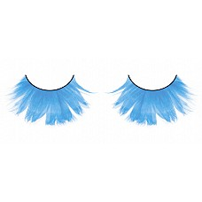 Ресницы светло-голубые  перья  Удивительные переливающиеся ресницы из мягких высококачественных перьев ручной обработки сияющего голубого цвета, очень густые.