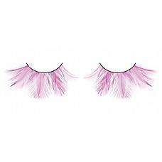 Ресницы розовые  перья  Дерзкие и необычные ярко-розовые ресницы из мягких высококачественных перьев ручной обработки, очень пушистые.