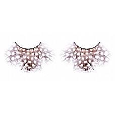 Ресницы тёмно-фиолетовые  перья  Превосходные, красивые ресницы из мягких высококачественных перьев ручной обработки, выполненные в коричневом и лиловом цветах, пушистые, с рисунком в крапинку.