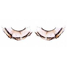 Ресницы бежево-коричневые  перья  Грациозные невероятно привлекательные ресницы из мягких высококачественных перьев ручной обработки, контрастные и очень густые.