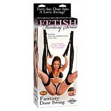 Секс качели подвешивающиеся на дверь  Супер-альтернатива большим качелям для секса! Набор из двух прочных широких строп.