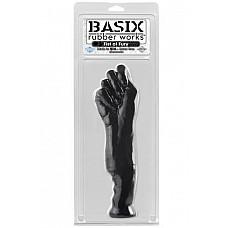 Фаллоимитатор-кулак черный  Большой кулак для фистинга с удобной рукоятью из гипоаллергеннной резины.