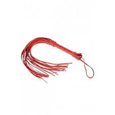 Плеть красная  Гладкая плеть (флоггер) изготовлена из натуральной кожи.