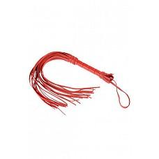 Плеть Мини красная  Гладкая плеть (флоггер) изготовлена из натуральной кожи.