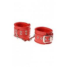 Наручники №2 красные  Наручники<br />Изготавливаются из натуральной кожи с велюровой подкладкой.