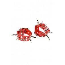 Наручники с шипами красные  Наручники с шипами красные