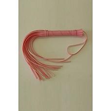 Плеть Мини розовая  Гладкая плеть (флоггер) изготовлена из искусственной кожи.