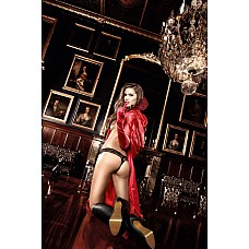 Accessoires Накидка красная сатиновая с воротничком стоечкой и пайетками  Страстно и восхитительно эта красная накидка из сверкающего сатина укутает Ваше тело.