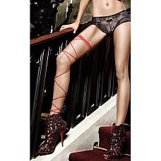 Accessoires Подвязка красная со шнуровкой  Экстравагантная, красная подвязка в строгом дизайне благодаря двум лентам,обвивающими ножки до самого низа, раскроет Вашу страстную сторону.
