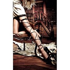Accessoires Подвязка черная со шнуровкой  Экстравагантная, черная подвязка в строгом дизайне благодаря двум лентам,обвивающими ножки до самого низа, раскроет Вашу страстную сторону.