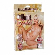 Блондинка с розовыми губками UKRN 1929-10 BX SE  Надувная куколка-блондинка с напечатанным лицом, приоткрытыми розовыми губками готова ко всему! Возможен оральный, вагинальный и анальный секс
