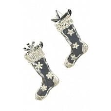 Носок рождественский прозрачно-серебряный