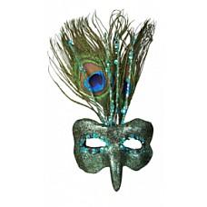 Маска с павлиньими перьями