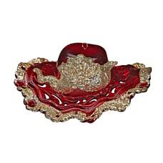 Шляпка красно-золотая