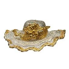 Шляпка серебряно-золотая