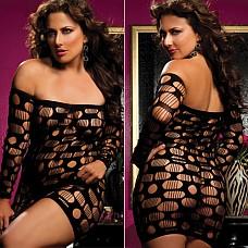Облегающее платье SEXY DRIVE UKRN STM-9484XPblack  Черное облегающее ультракороткое платье с открытыми плечами, рукава платья длинные.