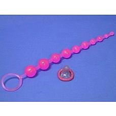 Цепочка анальных шариков на жесткой сцепке  Анальный стимулятор–бусы из жесткого геля. Предназначены для достижения максимальной сексуальной возбудимости при подготовке к половому акту, а также для стимуляции эрогенных зон ануса во время полового контакта. Яркая цепочка плавно уменьшающихся в диаметре шариков для ярких, незабываемых ощущений.