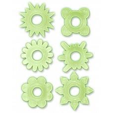 Набор из 6 прозрачных эрекционных колец (Toyfa 888200-10)  Набор из 6 прозрачных эрекционных колец