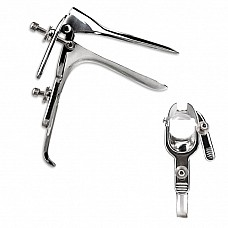 Металлический  вагинальный расширитель (спекулум)  Классический вагинальный расширитель - спекулум из металла серебристого цвета.