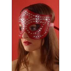 Маска-очки профурнитуренная заклепками  Маска–очки профурнитуренная заклепками на кожаной (красной) подкладке. Ручная работа.