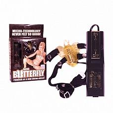 Клиторальный стимулятор  Клиторальный стимулятор изготовлен в виде бабочки на удобных резиночках .