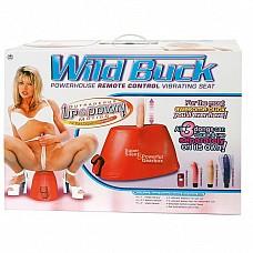 Секс-машина Wild Buck 2VR3031  Секс-машина Wild Buck Секс-игрушки, для женщин, экстра класс, красный, телесный, фиолетовый, розовый длина фиол. вибр-ра 17 см, диаметр 3,3 см; длина телес. вибр-ра 13,5 см, диаметр 4 см; длина розов. вибр-ра 11,5, диаметр 3 cм Три вибратора, пульт, сиденье. NMC Канада Материал - искусственная кожа, ПВХ, гель.