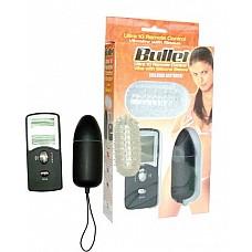 """Радиоуправляемое яйцо """"Пуля"""" ( Dream toys 50463)  Вибро-яйцо черного цвета с монитором. Уникальный выносной пульт позволяет регулировать 10 режимов вибрации и пульсации. Установленный режим отражается на встроенном в пульт мониторе. В комплект входит рифленая силиконовая насадка с усиками и пупырышками по всей поверхности. Яйцо можно использовать как с насадкой, так и без нее. Для легкого изъятия из тела яйцо имеет специальный шнурочек из гигиенический резины. Механизм вибрации находится внутри яйца, туда же вставляется батарейка (1,5V) - входит в комплект. Длина яйца 8 см, диаметр 3 см. Работает от двух батареек 23А (12V) - входят в комплект."""